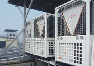 heat pump application place of hospital
