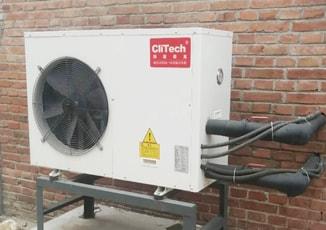Heat pump with solar heater