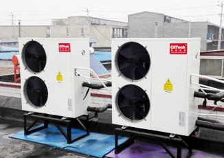 Heat pump application place for hotel